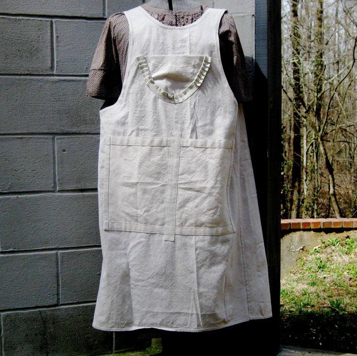 Artist apron, crafter apron, full coverage apron, deep pocket apron, chef apron, teacher apron, florist apron, industrial apron by PrimaRelton on Etsy