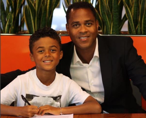Patrick Kluivert's nine-year-old son, Shane, signs Nike endorsement deal