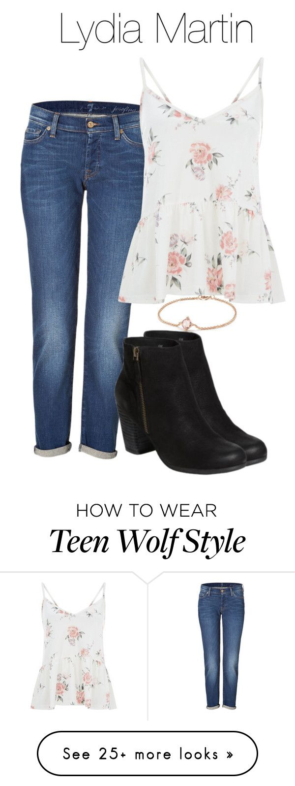"""Lydia Martin summer outfit with jeans - tw / teen wolf"" by shadyannon on Polyvore featuring David Yurman and 7 For All Mankind"