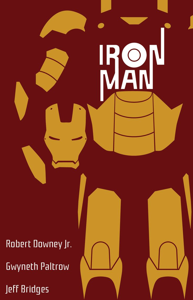 Iron Man Poster in the style of Saul Bass #GraphicDesign #ArtSchool