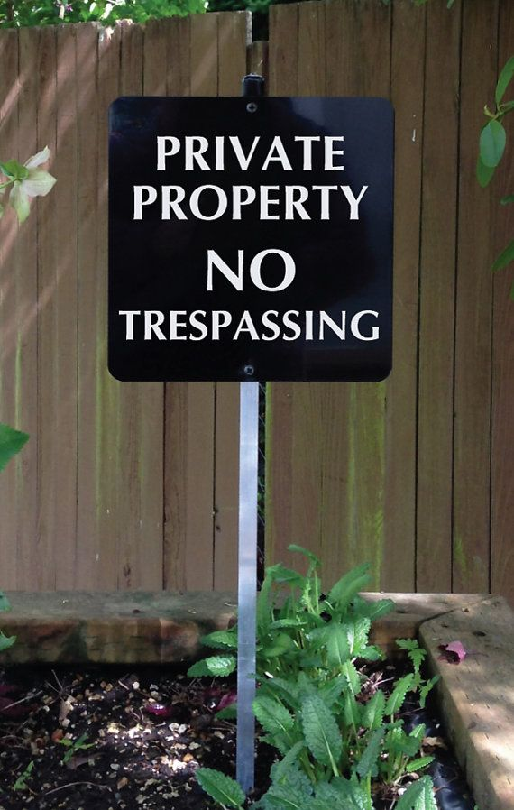 Private Property NO TRESPASSING Yard Sign for home by SignMachine