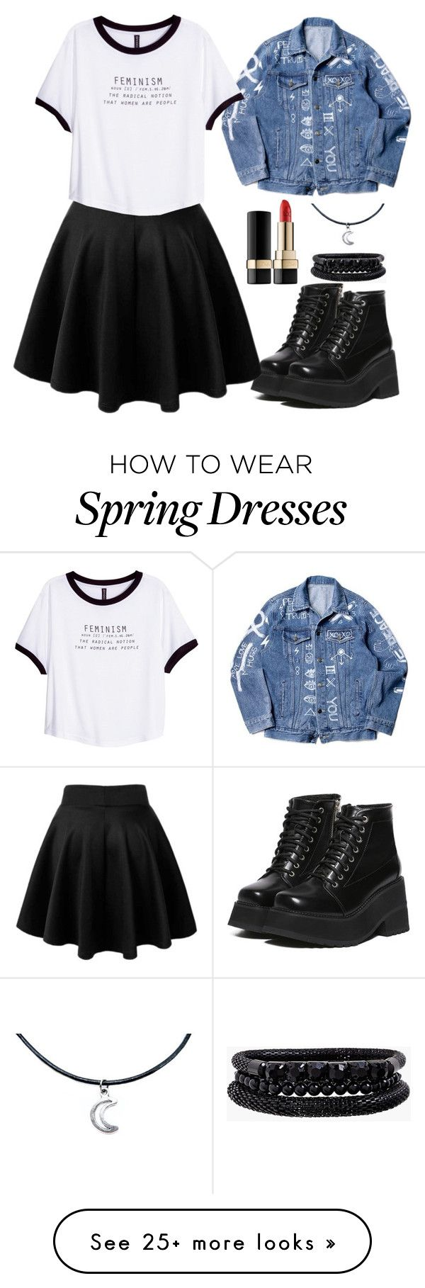 """My world is unaffected, there is an exit here I say it is and then it's true."" by siennabrown on Polyvore featuring Dolce&Gabbana, H&M, Spring Street, Punk, rock, grunge and alternative"