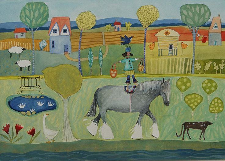 """Leaving Home by julia cairns  ~ 14"""" x 20"""""""