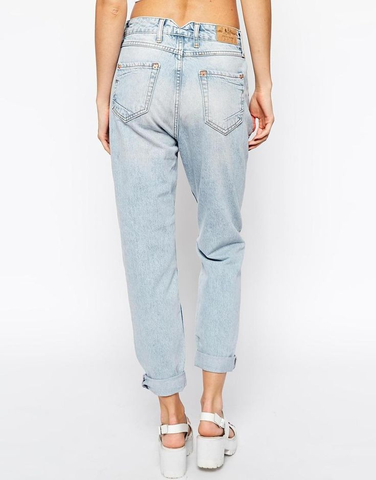 Рыжие джинсы