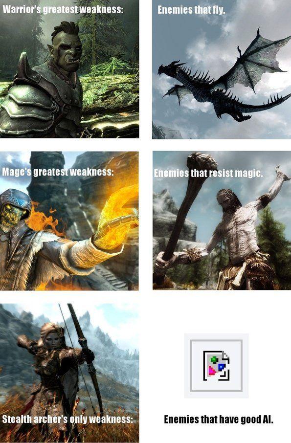 Stealth Archery Humour Spot Skyrim Funny Skyrim Memes Skyrim Comic