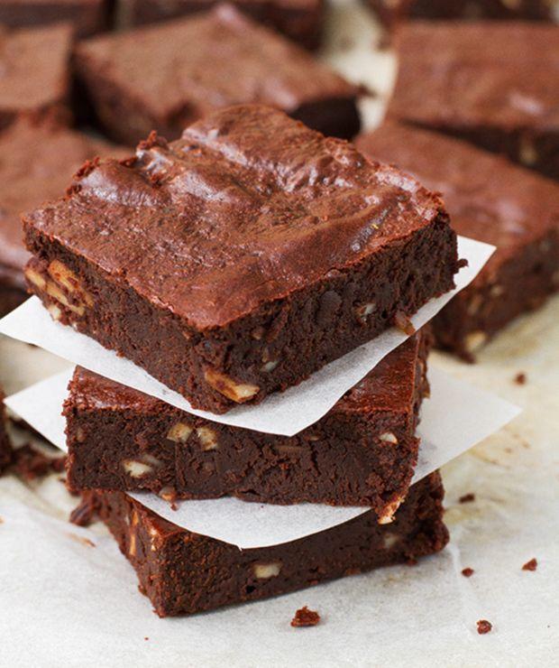 Zdrowe brownie (bez glutenu, cukru i laktozy) - Ucierane
