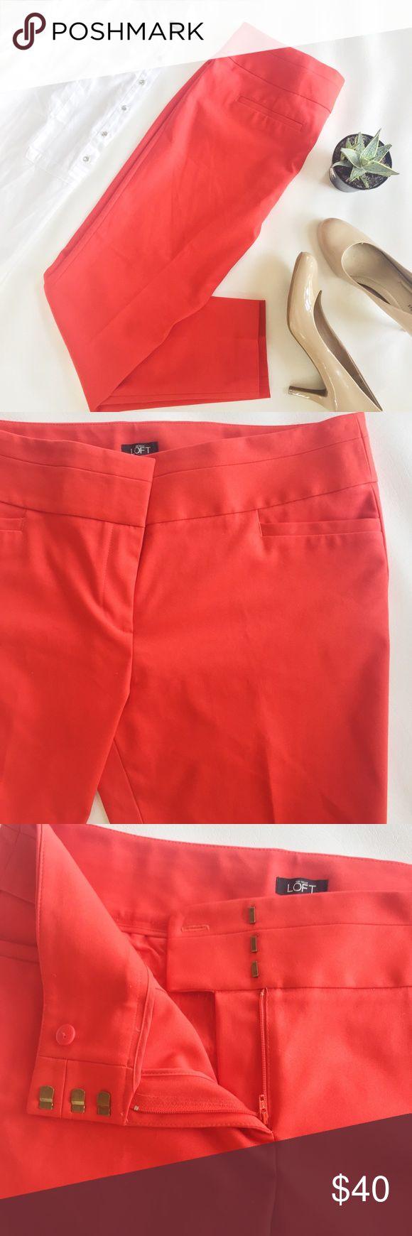 LOFT Red Marisa Skinny Pants NWT LOFT | 14 | Marisa Skinny | Red | 3 latch, zip & button closure | NWT - never worn LOFT Pants Skinny