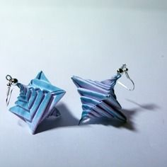 Boucles d'oreilles origami en forme de spirale n°6