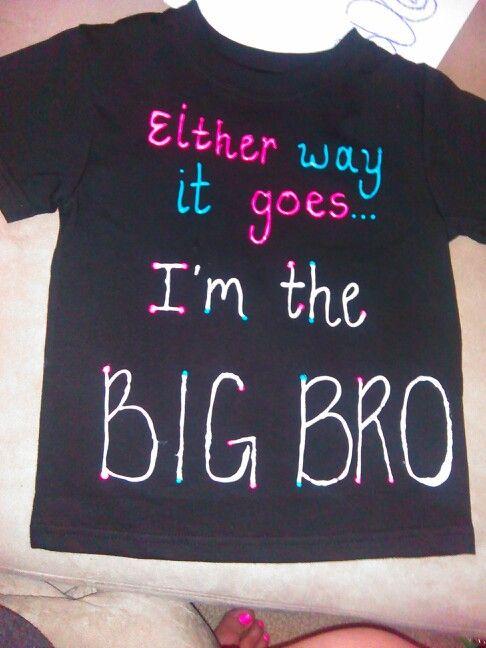 Gender Reveal Big Brother Shirt