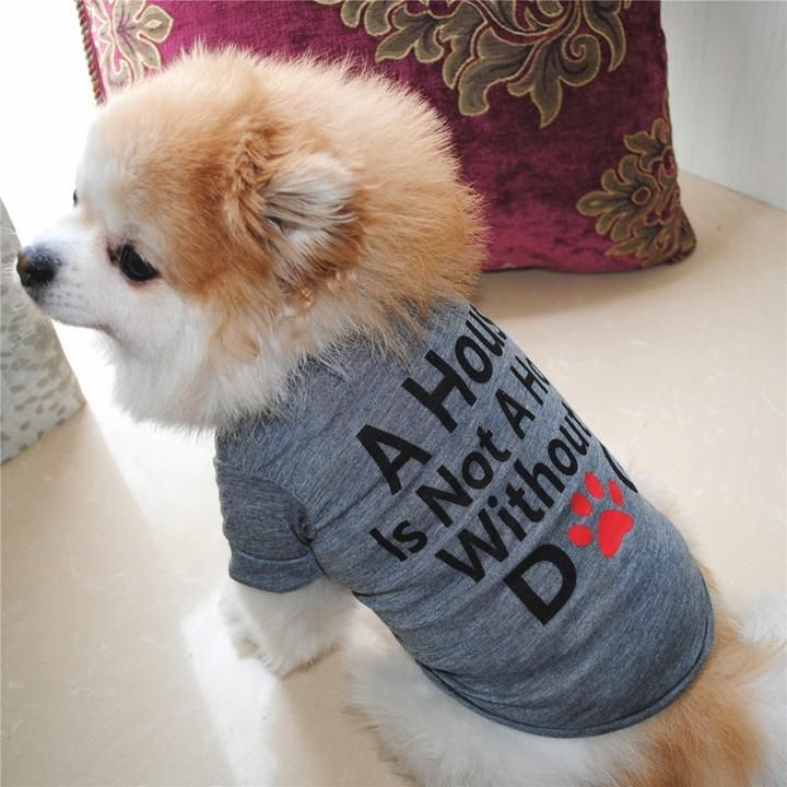 Cute Statement Print Soft Summer Clothing Puppy Shirt Pet