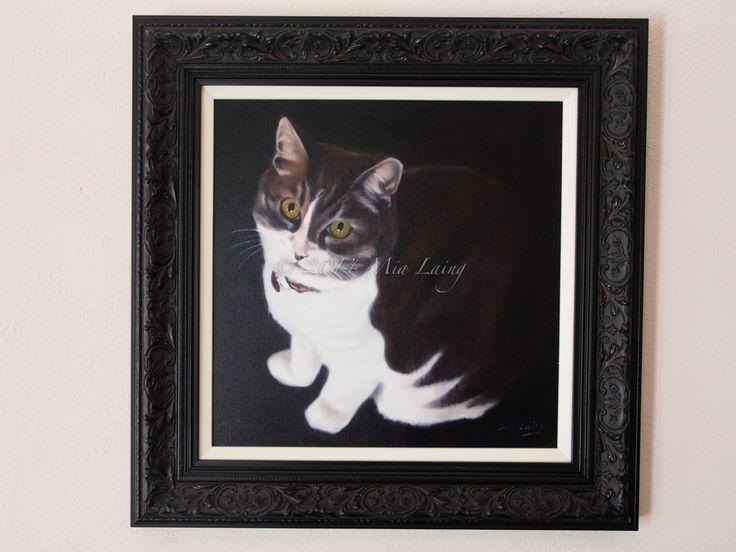 copyright Mia Laing 2013 oil on canvas - pet portraits
