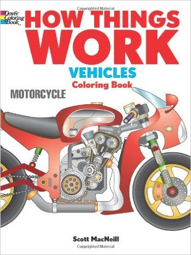 How Things Work Vehicles Coloring Book Dover Books For Children