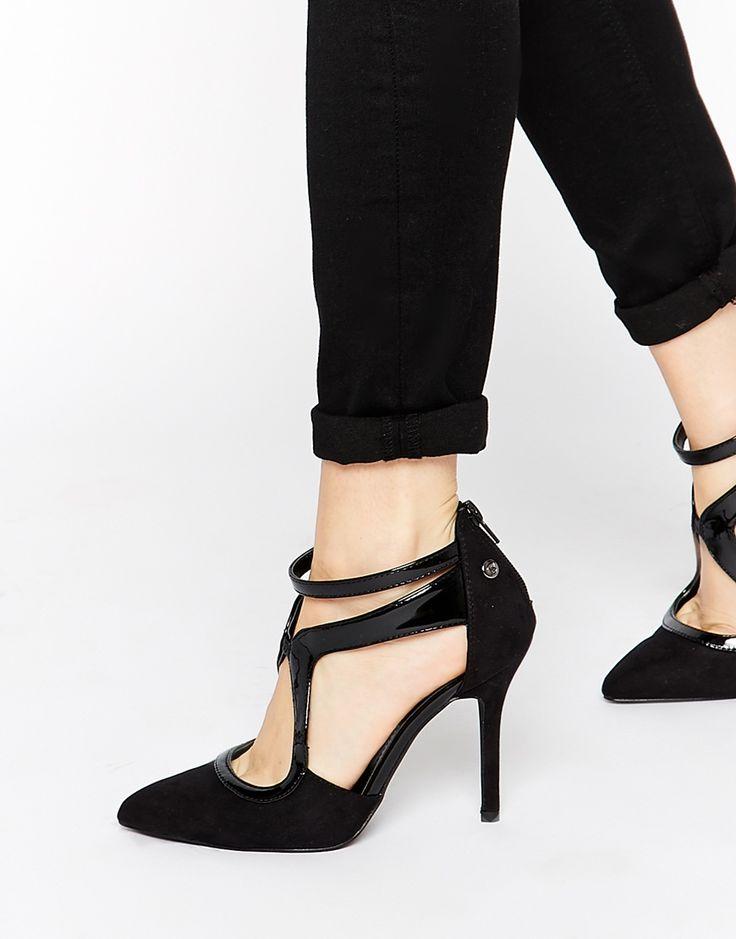 Blink   Blink Asymmetric Strap Detail Heeled Shoes