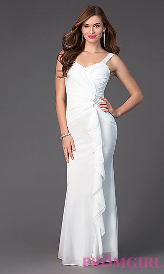 Floor Length Prom Dress 3965 with Ruffles at PromGirl.com