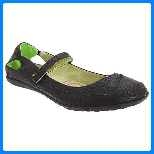 Boulevard Damen Ballerinas / Schuhe / Mary-Jane-Schuhe mit Klettverschluss-Riemen (39 EUR) (Schwarz) - Mary jane halbschuhe (*Partner-Link)