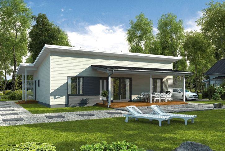 Perinteistä tai modernia tehokkuutta – Teuvo: 99 m², 3 makuuhuonetta, 1-kerroksinen omakotitalo