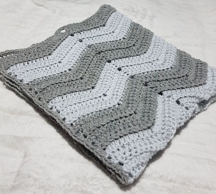 handmade crochet wave/chevron baby blanket grey white.Cot pram cradle car seat   Baby, Nursery Bedding, Blankets & Throws   eBay!