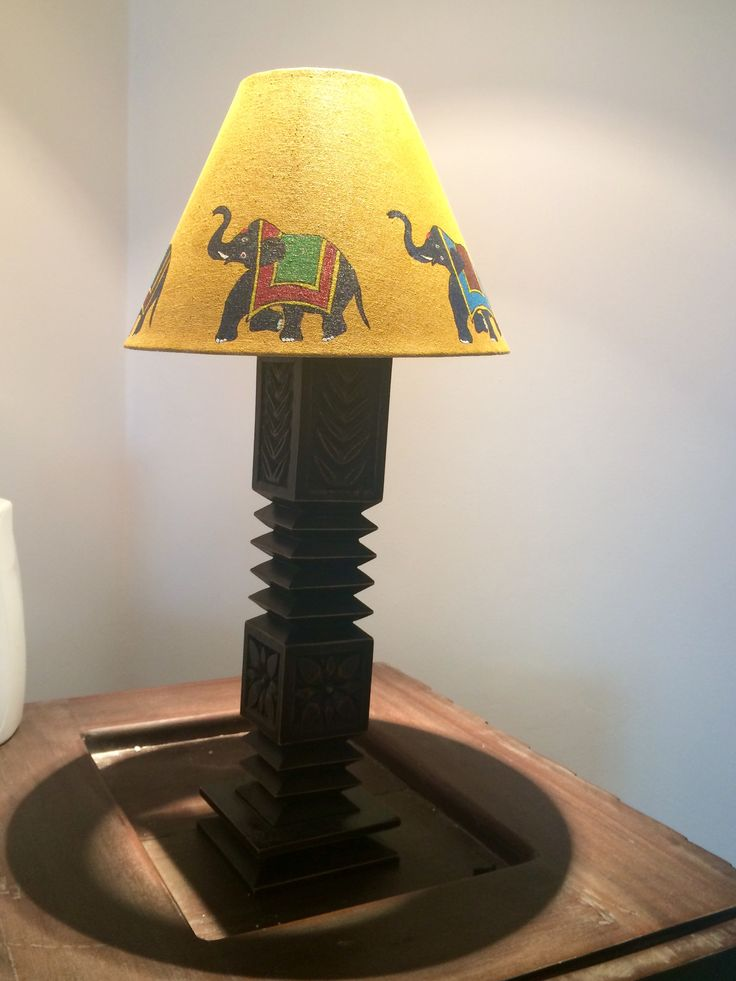 An old lamp shade turns new with some acrylic paint n