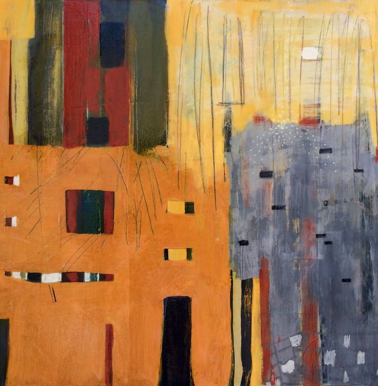 """Facade, 18x18"""" acrylic on panel"""
