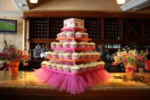 Cupcakes & Tulle. Perfect for a little girl's birthday party!