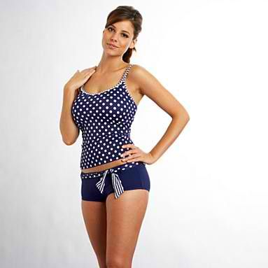 Now this is a cute tankini with shorts! I want this!