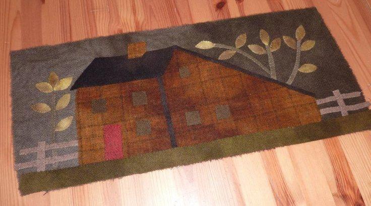 726 best woolwork felt and penny rugs images on pinterest for Le jardin de woolens