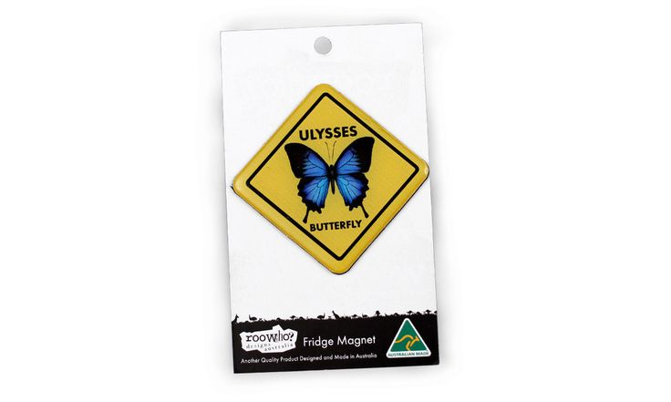 Roowho Road Sign - Ulysses Butterfly