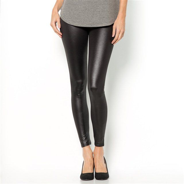 Long Lacquered Stretch Jersey Leggings