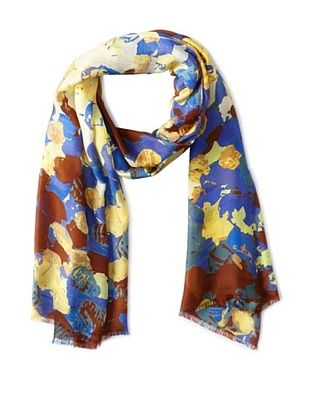 73% OFF Micky London Women's November Rain Scarf, Burgundy Multi