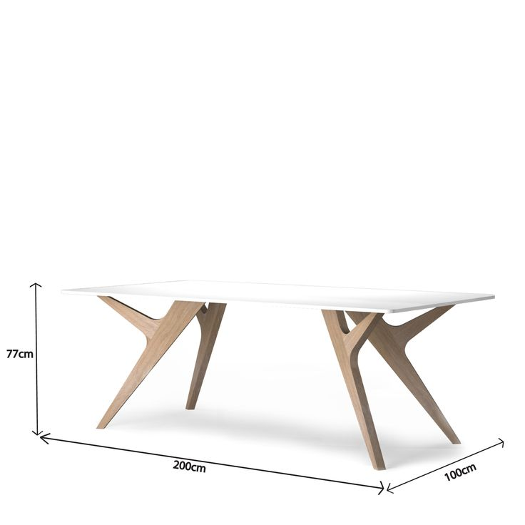 Table haute design en chêne de la collection SCANDINAVE. Meuble haut de gamme numéroté et estampillé, production artisanale et sur mesure 100% français!