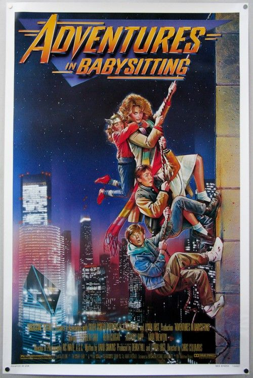 """""""Adventures in Babysitting"""" (1987) *Action/Comedy by Chris Columbus-- starring Elisabeth Shue, Maia Brewton, Keith Coogan, & Anthony Rapp"""