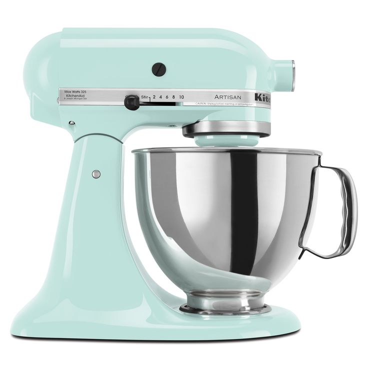 Perfectly pastel, this KitchenAid mixer makes a fabulous accessory to any kitchen for spring.
