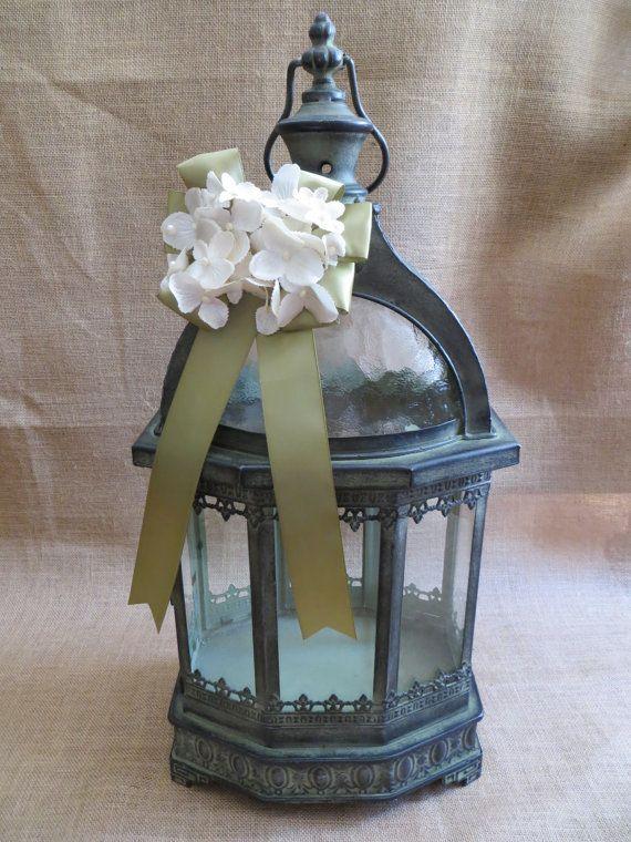 Pick Your Colors Elegant Wedding Lantern Card Holder, Vintage Style Wedding Decoration, Money Holder, Card Box, Wedding Lantern