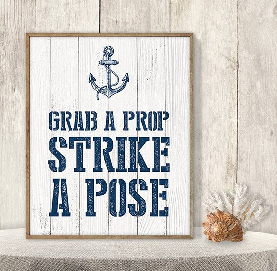 Nautical Photo Booth Sign                                                       …