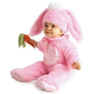 Pembe Tavşan Bebek Kostümü