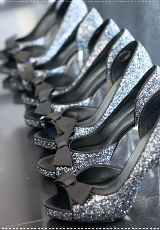 www.weddbook.com everything about wedding ♥ Chic Sparkle Wedding High Heel Shoes | 2013 Ayakkabi Modelleri #sparkle #silver