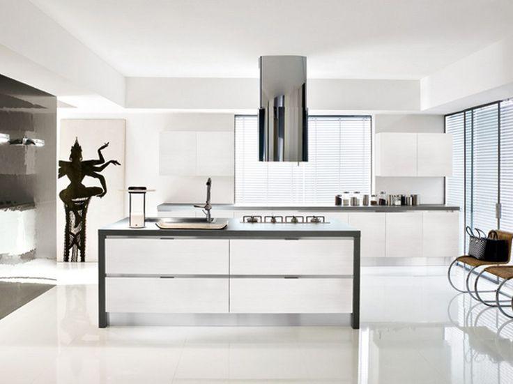 contemporary white kitchen - Google Search