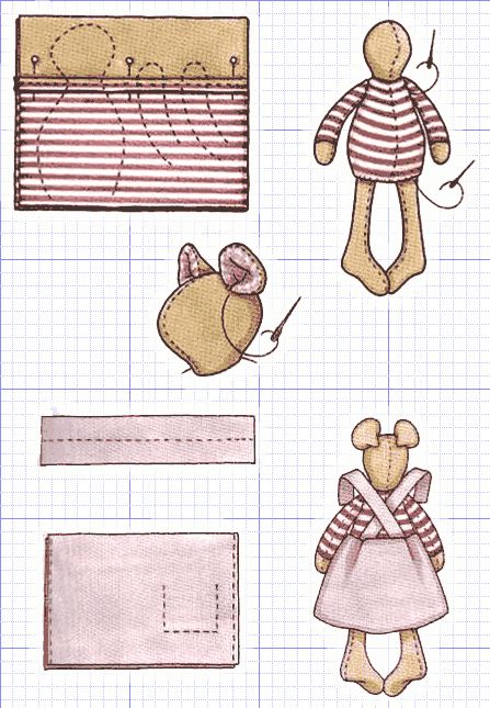 Tilda doll: Schematic assembly of parts of the pattern. How to sew a doll Tilda? Pattern Tilda. 2 of 4