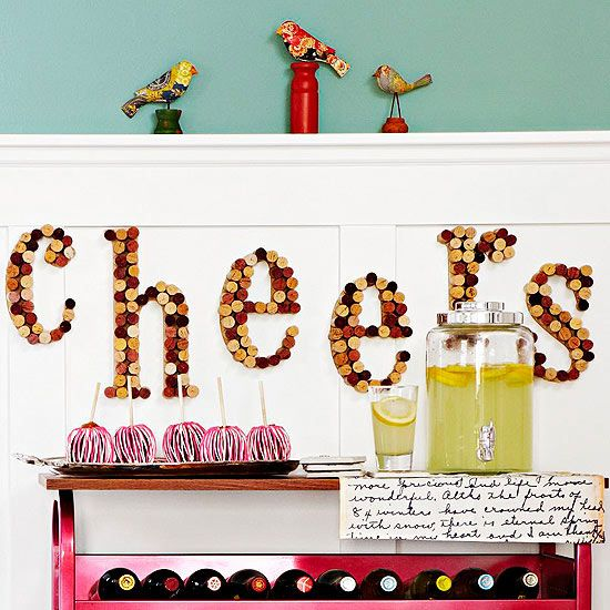 DIY Fall Projects...Cheerful Cork Letters ... Lindy Project ;-)