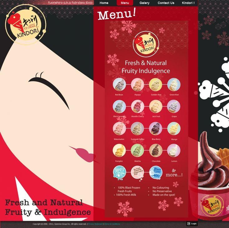 Web Design | Kindori Ice Cream | Kreavi.com