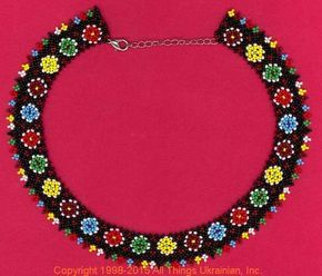 AllThingsUkrainian.com gherdany Bead Jewelry # GIN15138