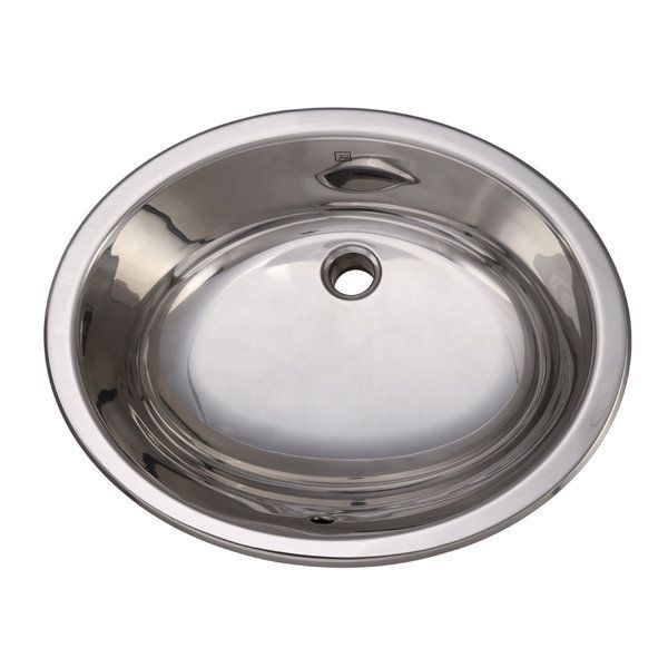 "DecoLav 1300-P 19-1/4"" Self Rimming Stainless Steel Bathroom Sink Polished Fixture Lavatory Sink Stainless Steel"