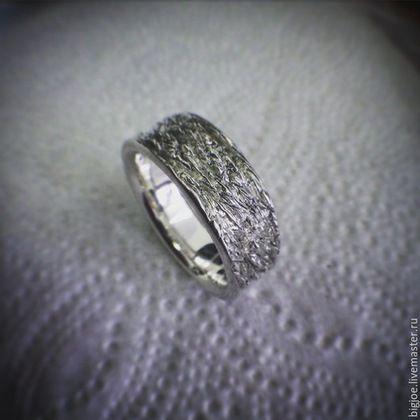 Кольца ручной работы. Заказать кольцо из серебра. Авторское кольцо. Необычное кольцо. BigJoe. Ярмарка Мастеров. Искры, серебро 925 пробы