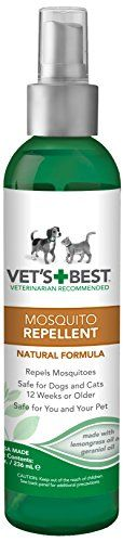 Vet's Best Natural Mosquito Repellent Spray for Dogs and Cats, 8 oz >>> Find out more details @