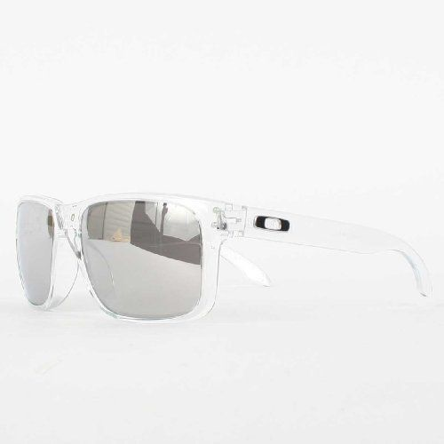 1ad2a237f07 Oakley Holbrook Clear Lens Chrome Iridium