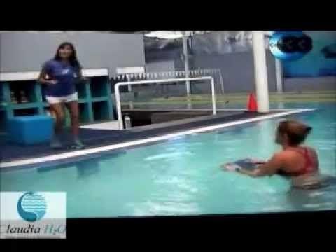 Claudia H2o en TV, rutina de ejercicio en agua con tabla