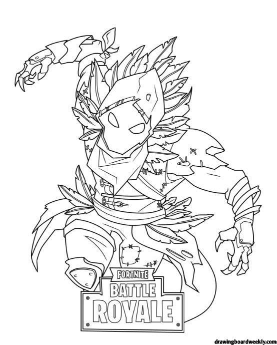 Fortnite Raven Skin Coloring Pages