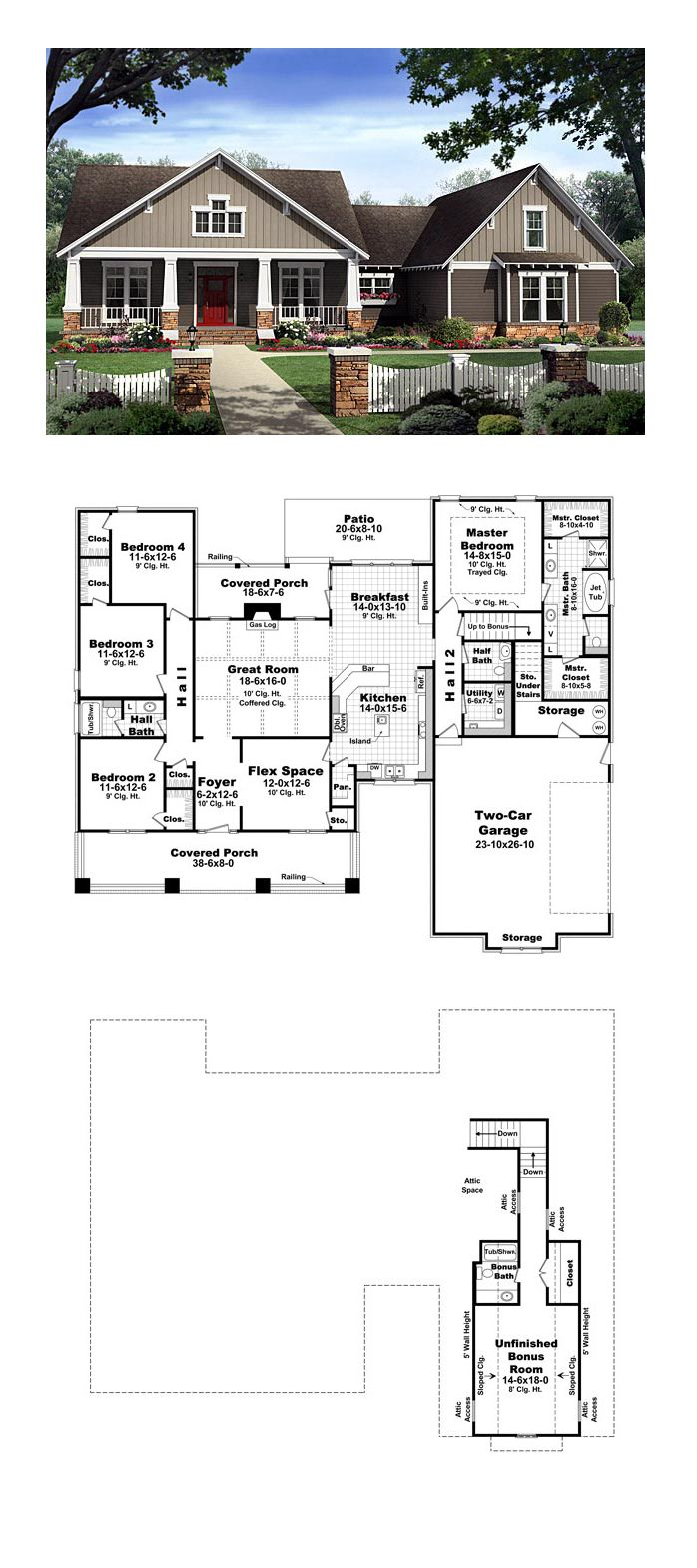 Bungalow Country Craftsman House Plan 59198. 25  best ideas about 4 Bedroom House on Pinterest   4 bedroom
