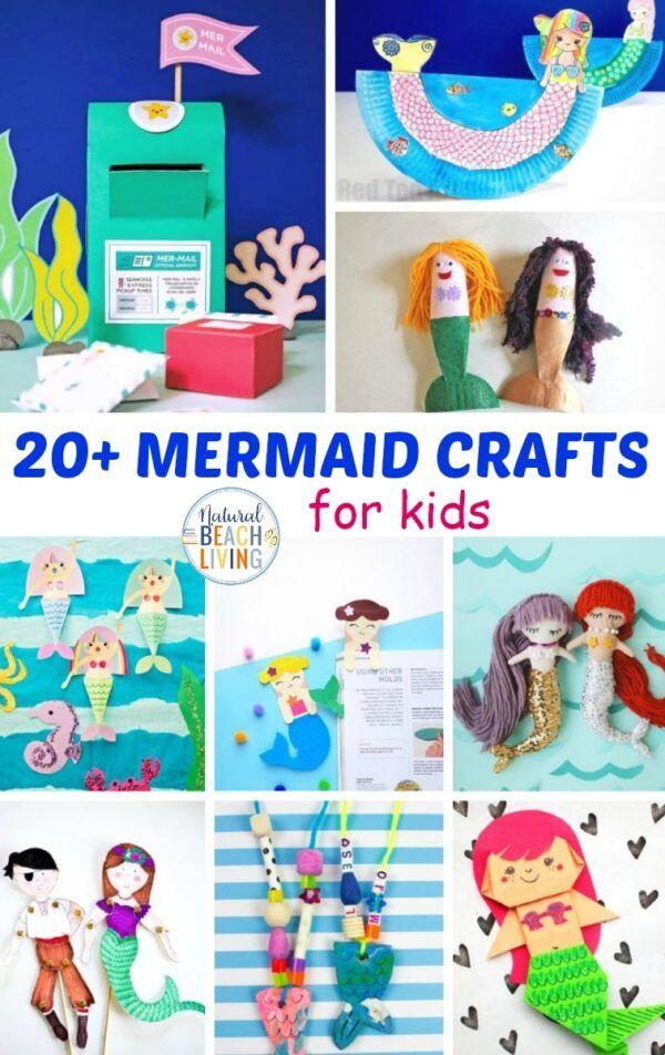 20 Mermaid Crafts For Kids Mermaid Crafts Crafts Creative