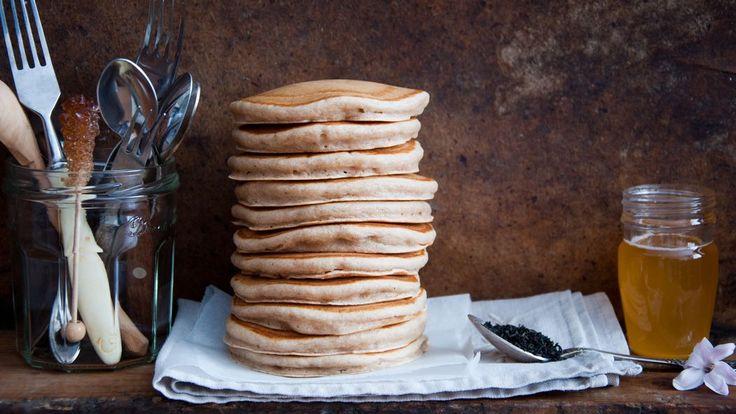 Vivian Howard's Buttermilk Buckwheat Pancakes